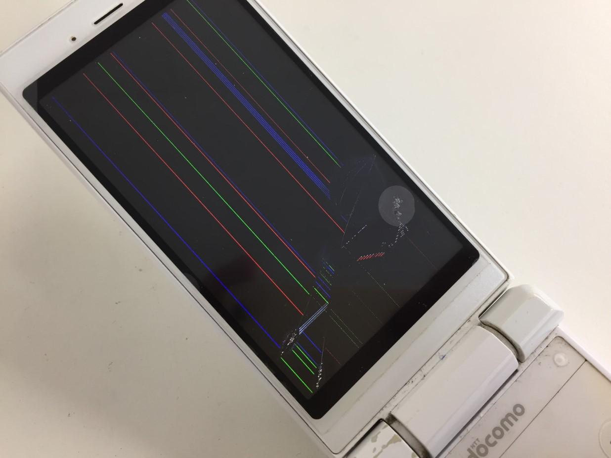 液晶画面が損傷しているSH-06G