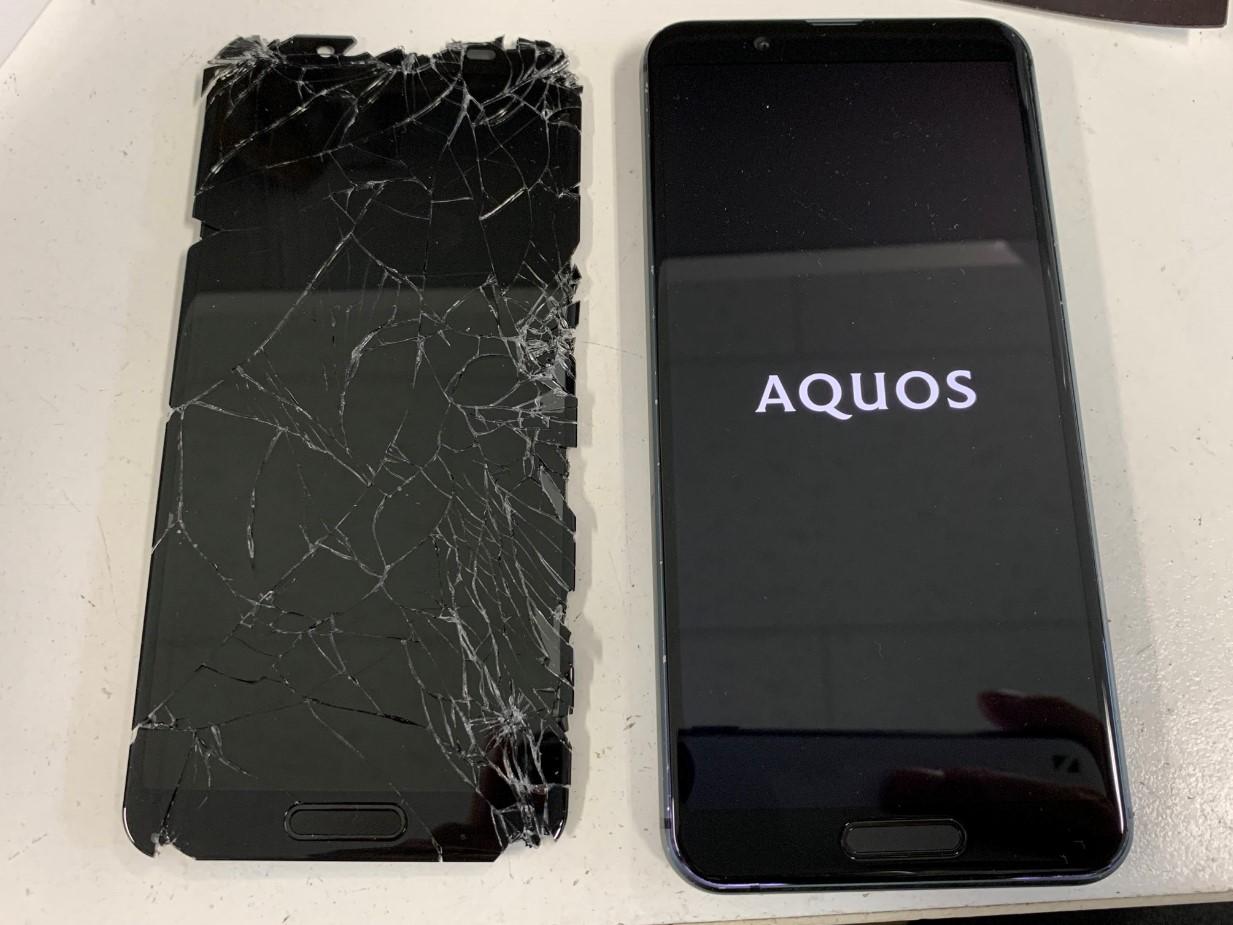 画面交換したAQUOS sense3