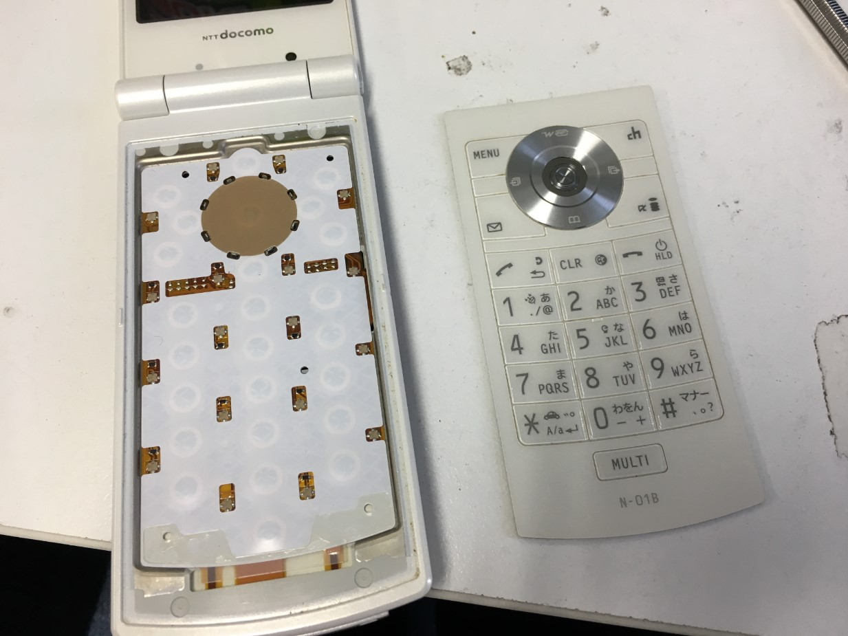 文字盤を剥がしたN-01B