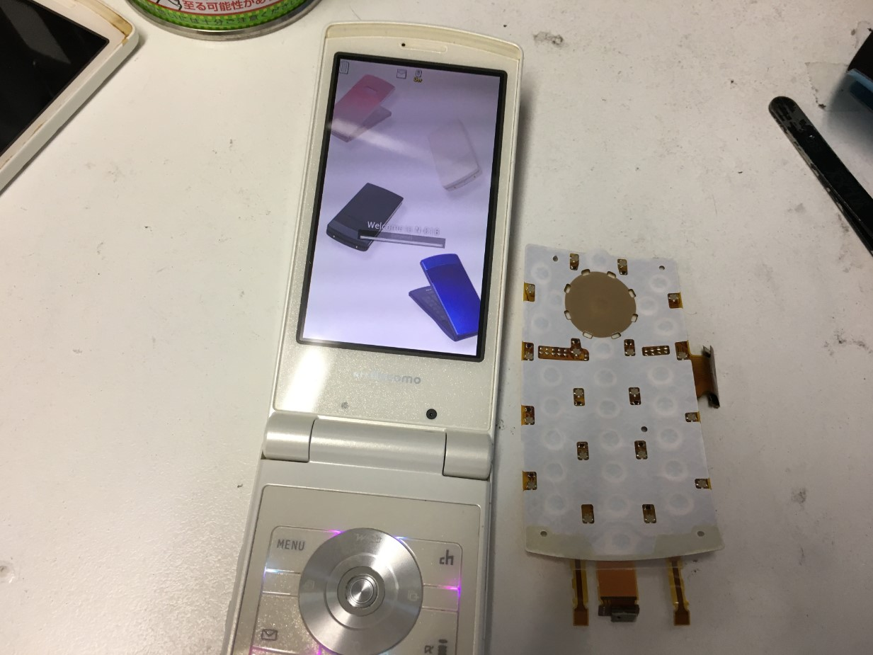 ボタン基板交換で反応するように改善したN-01B