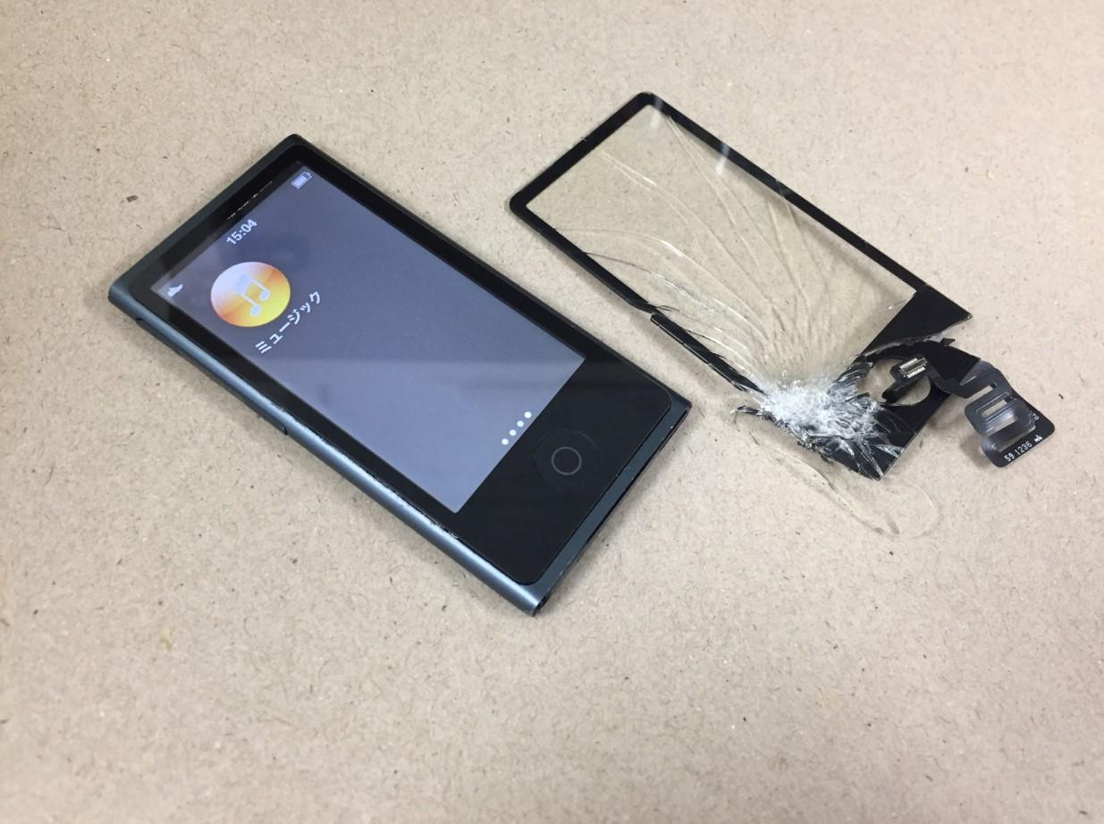 割れたガラスを新品に交換したiPod nano 第7世代