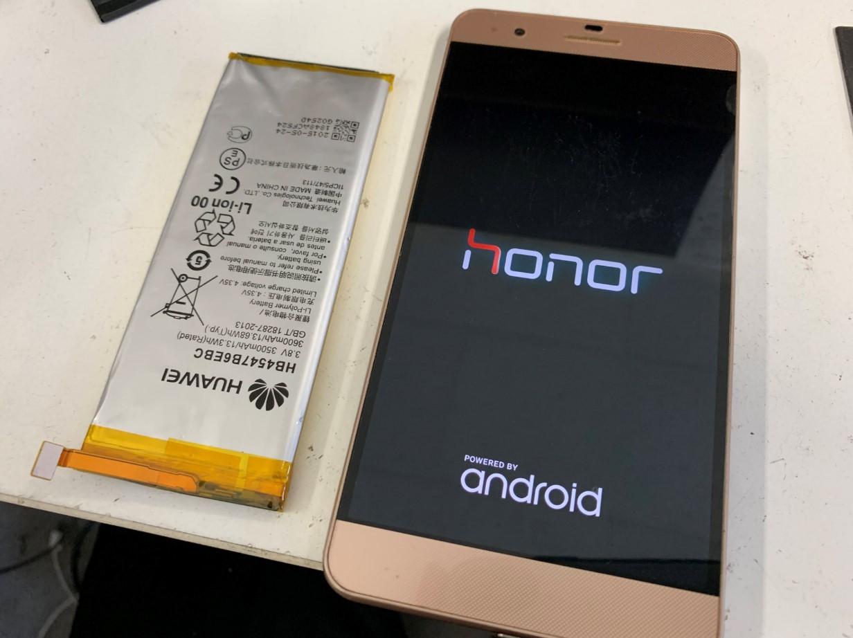 バッテリー新品交換修理後のhonor6Plus