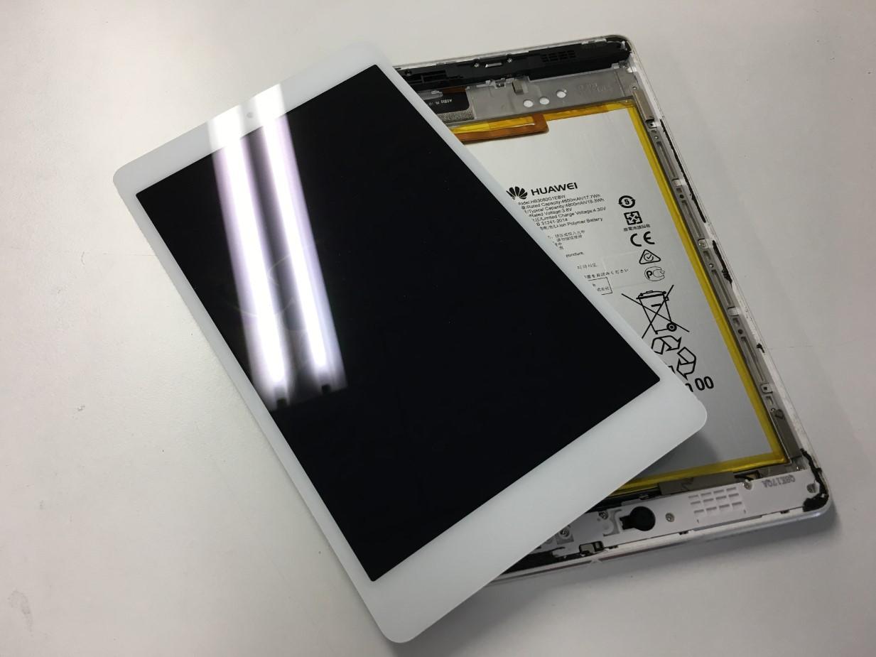 画面パーツを取り出したMediaPad M3 Lite s