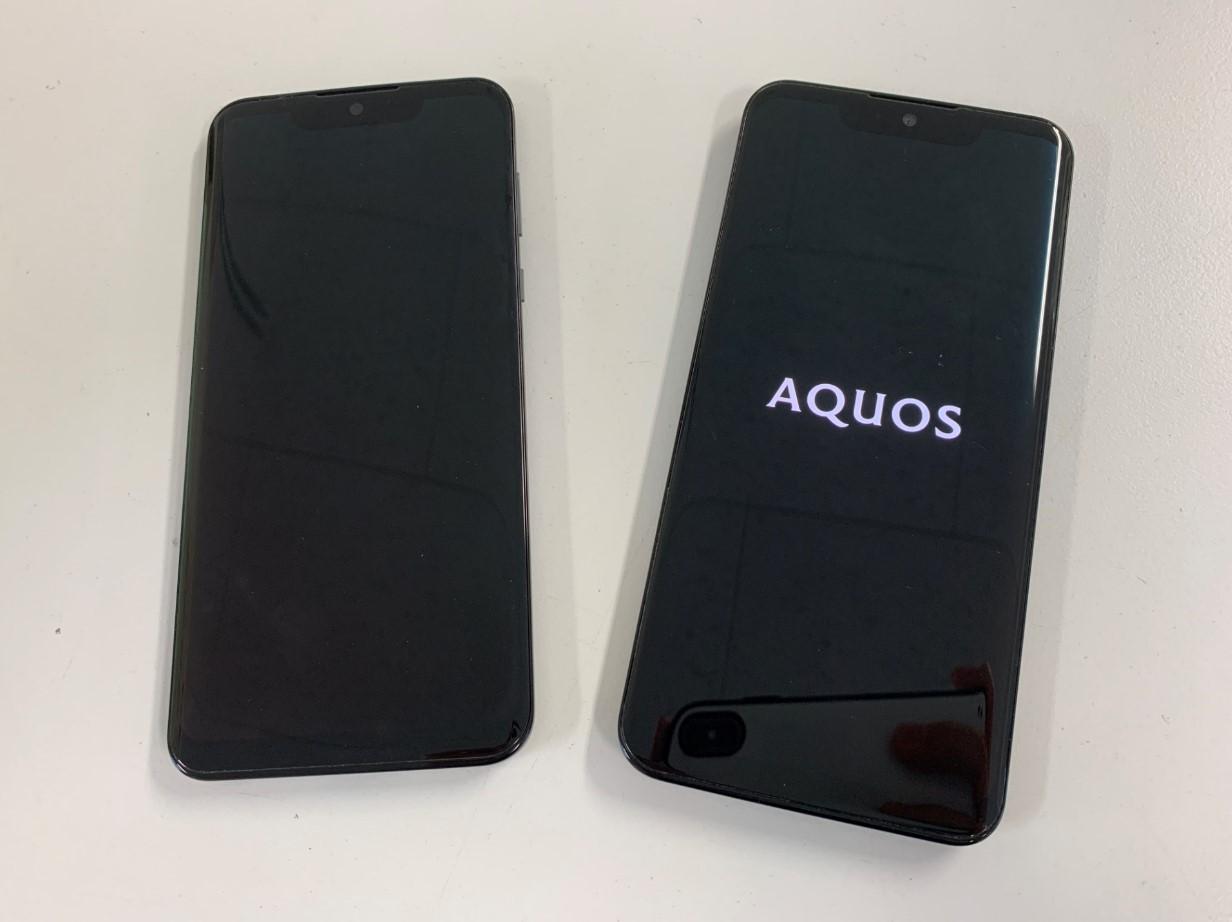画面交換修理後の表示されるようになったAQUOS zero(SH-M10)