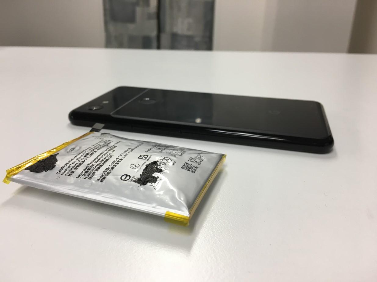 バッテリー新品交換修理後のPixel 3XL