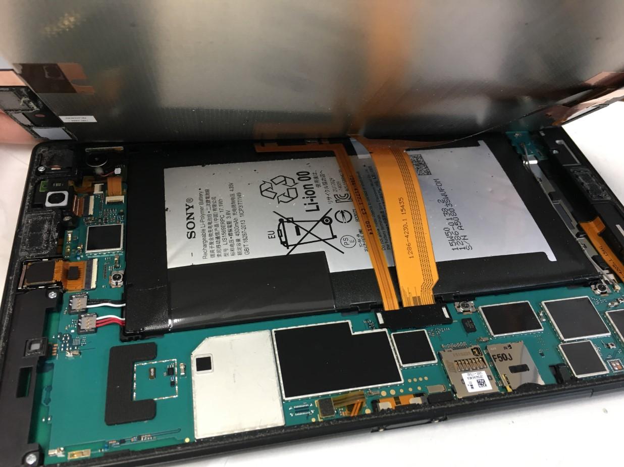 画面を開いたXperia Z3 Tablet Compact