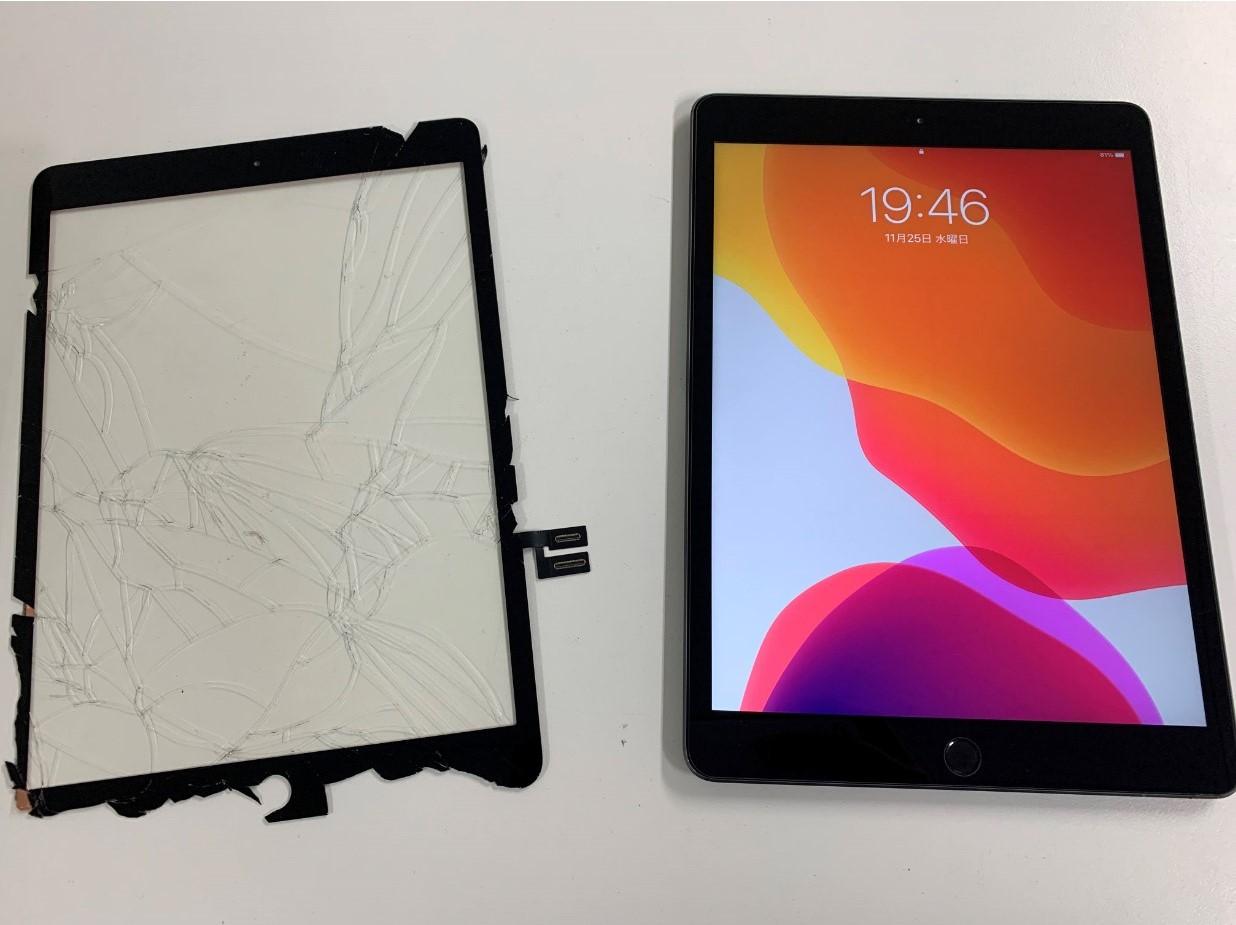 ガラス新品交換修理後のiPad 第8世代