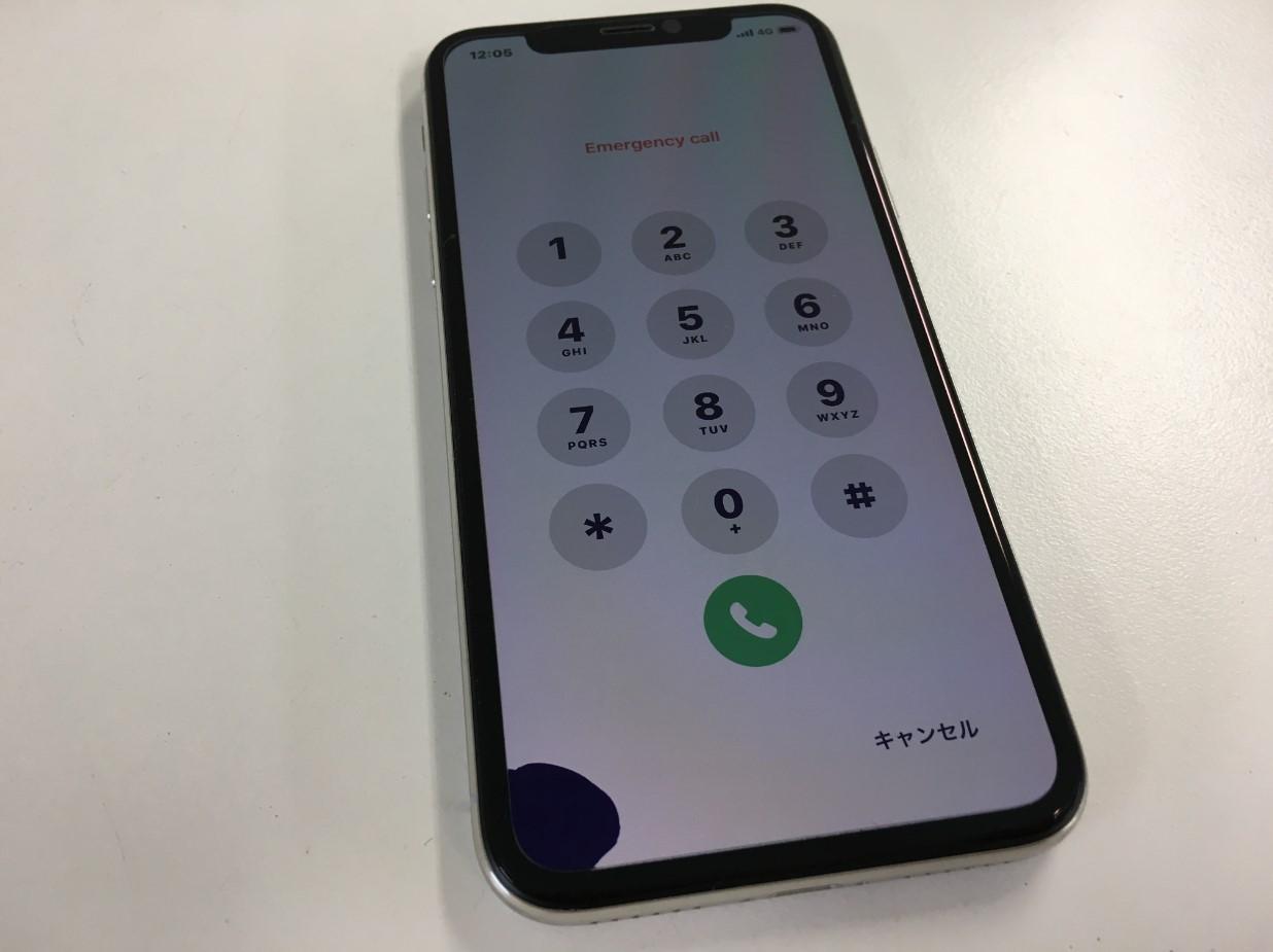 液漏れして画面下部のタッチ操作が出来なくなったタッチ切れしたiPhoneX