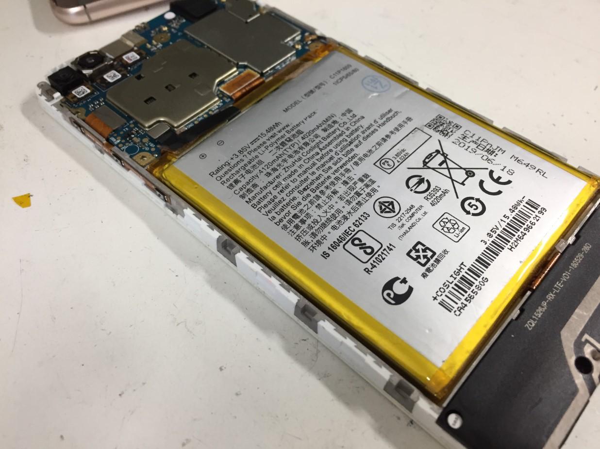 バッテリーが少し膨張していたZenfone4Max