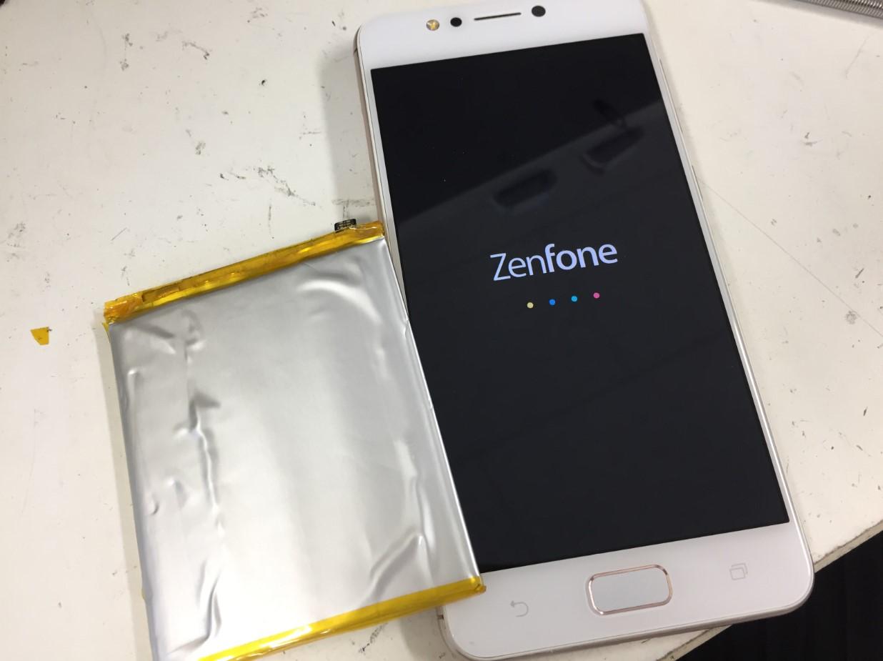電池パック交換で電源が入るよう改善したZenfone4Max
