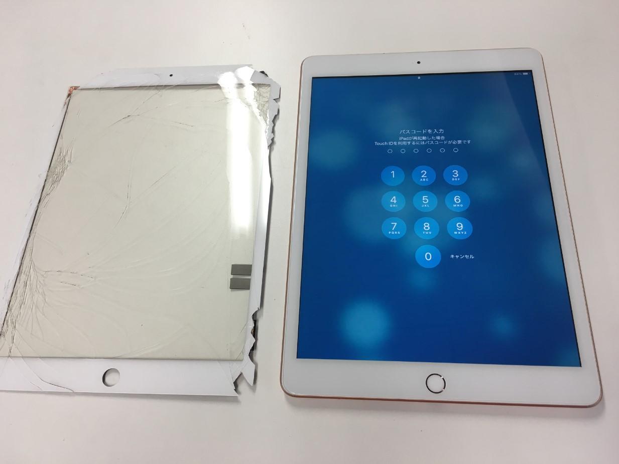 割れたガラスを新品交換したiPad第8世代