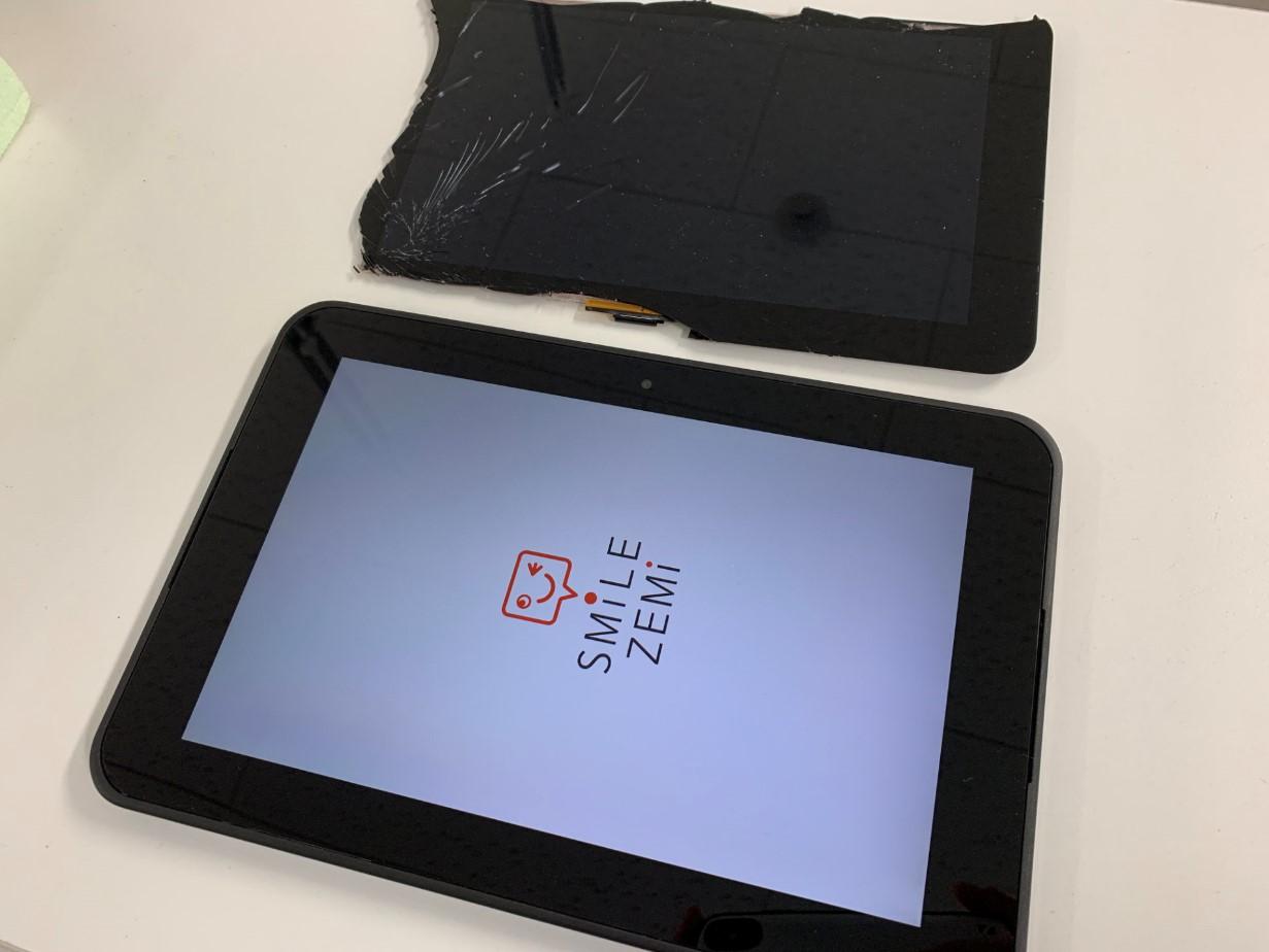 画面交換修理後のスマイルゼミタブレット3