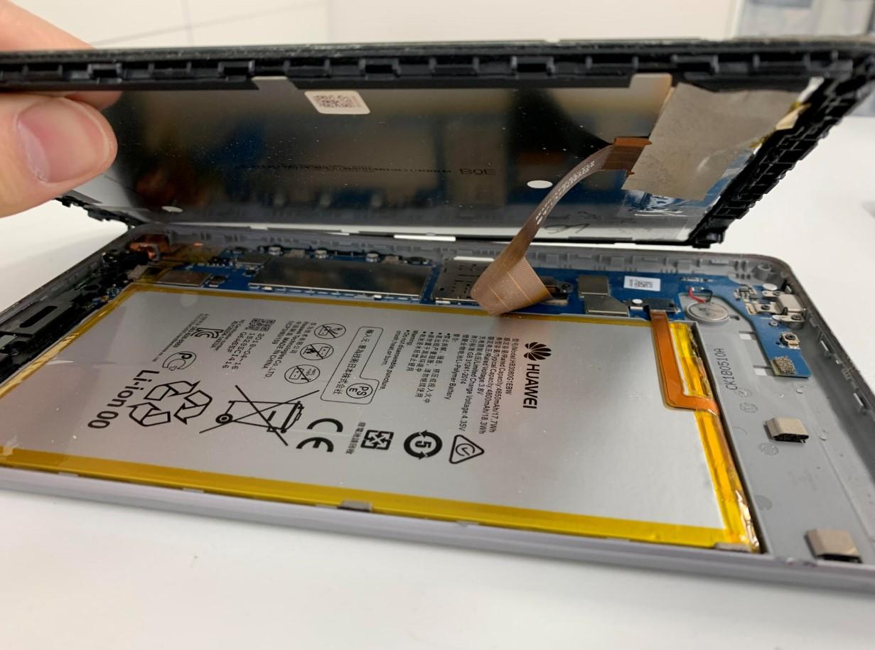 画面を開いたMediaPad T3(KOB-W09)