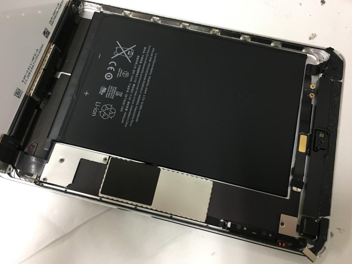 液晶下の銀板を剥がしたiPad mini