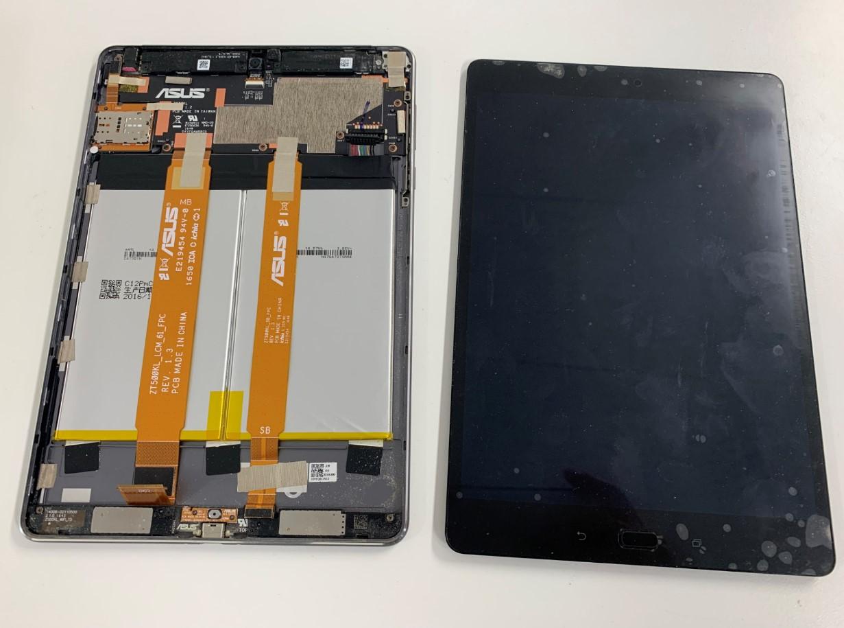 本体から画面パーツを剥がしたZenPad 3S 10(Z500KL)