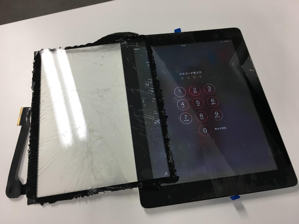 ガラス新品交換修理後のiPad3