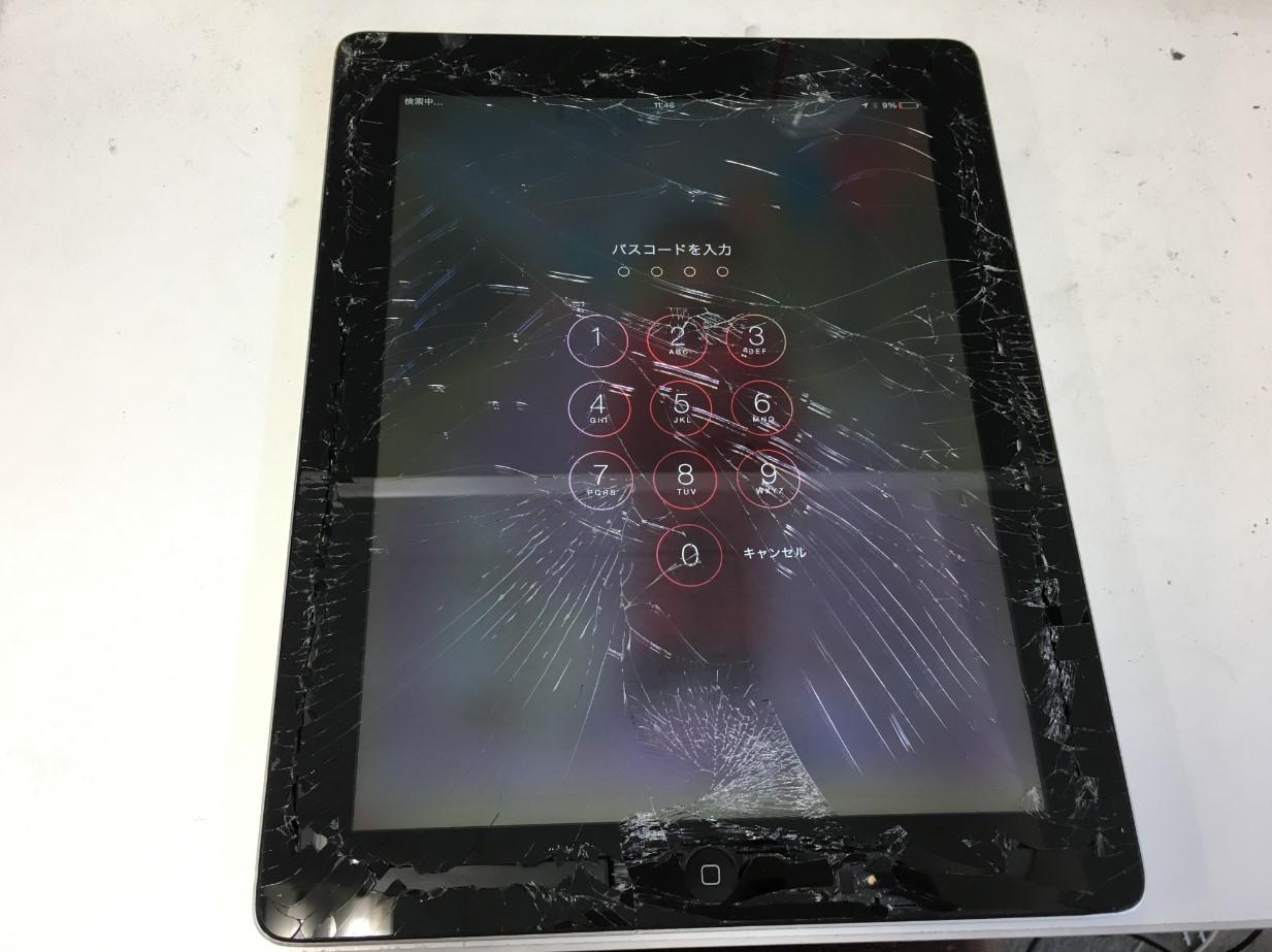 ガラス割れのiPad3もポストリペアなら修理費用が安い