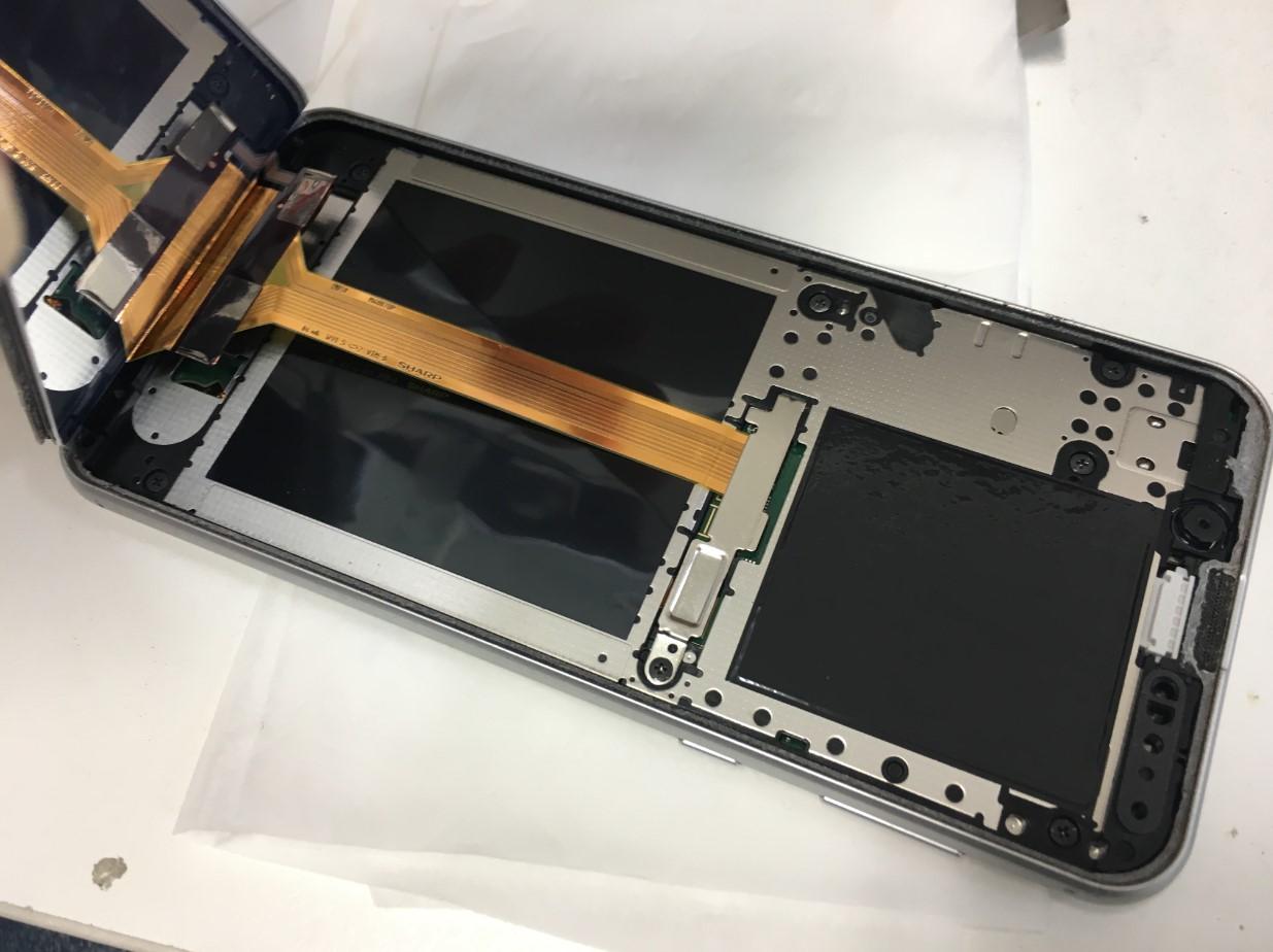 画面を剥がしたAndroid One S5