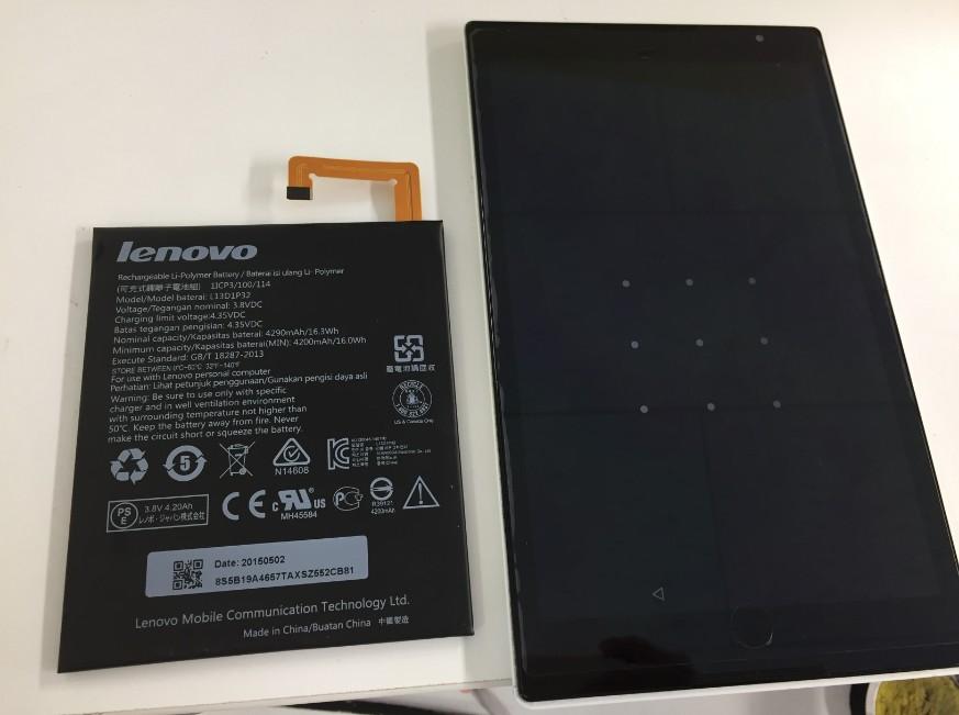 バッテリー新品交換修理後のNECタブレット(PC-TS708T1W)
