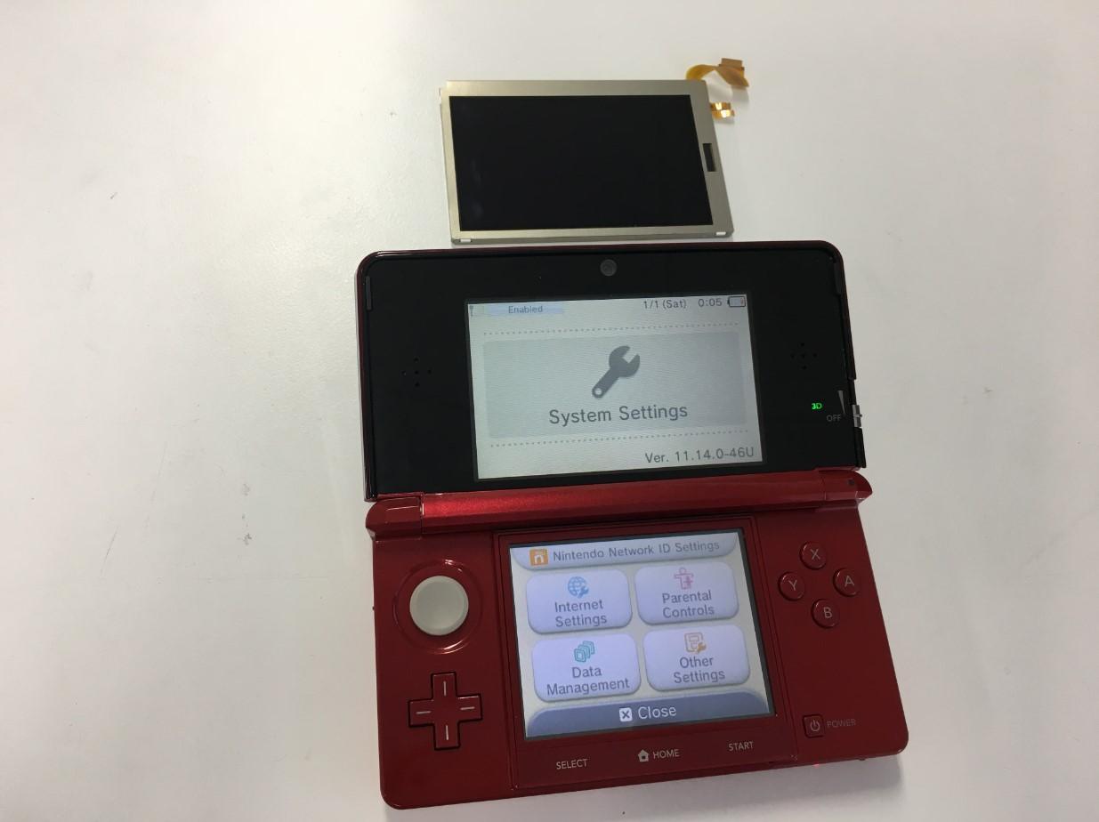 上液晶画面交換で変色が改善したNintendo 3DS
