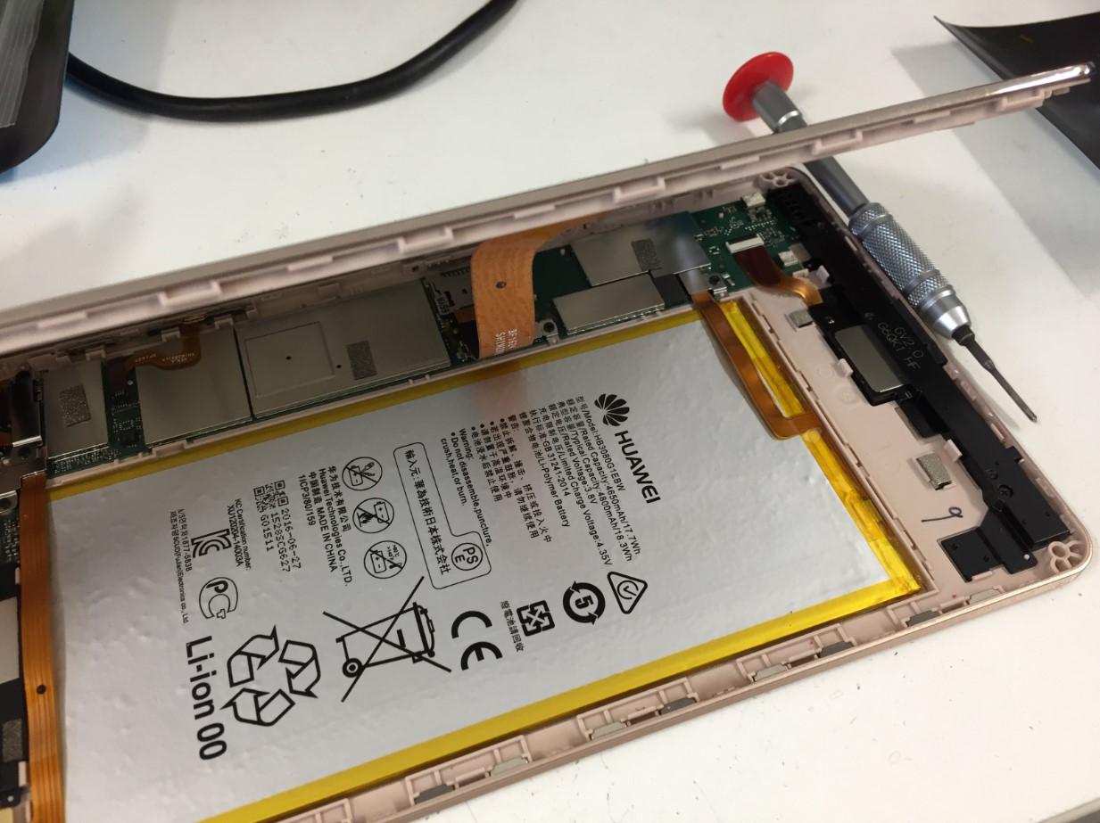 画面を剥がした華為 MediaPad M2 8.0