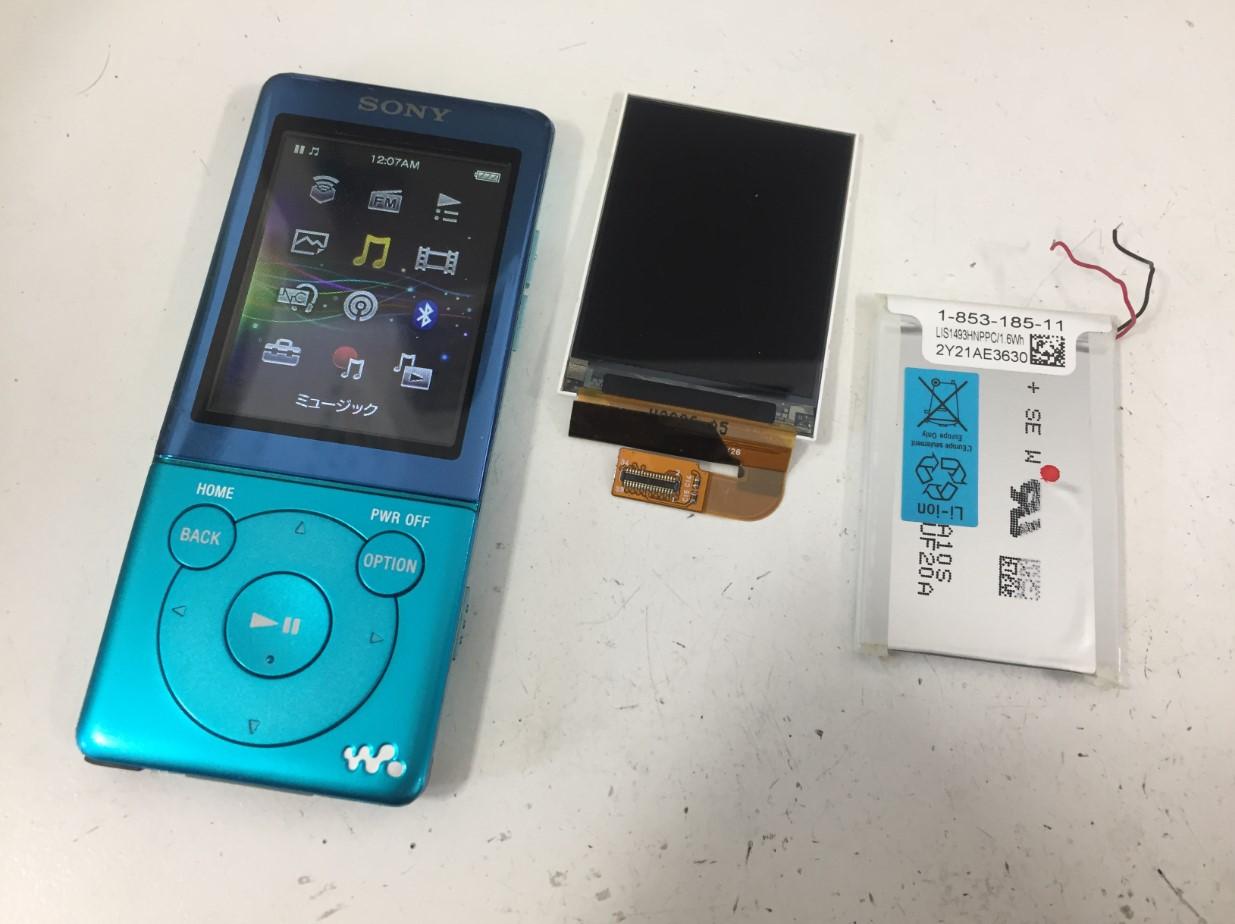 液晶画面交換修理で表示されるように改善したNW-S775