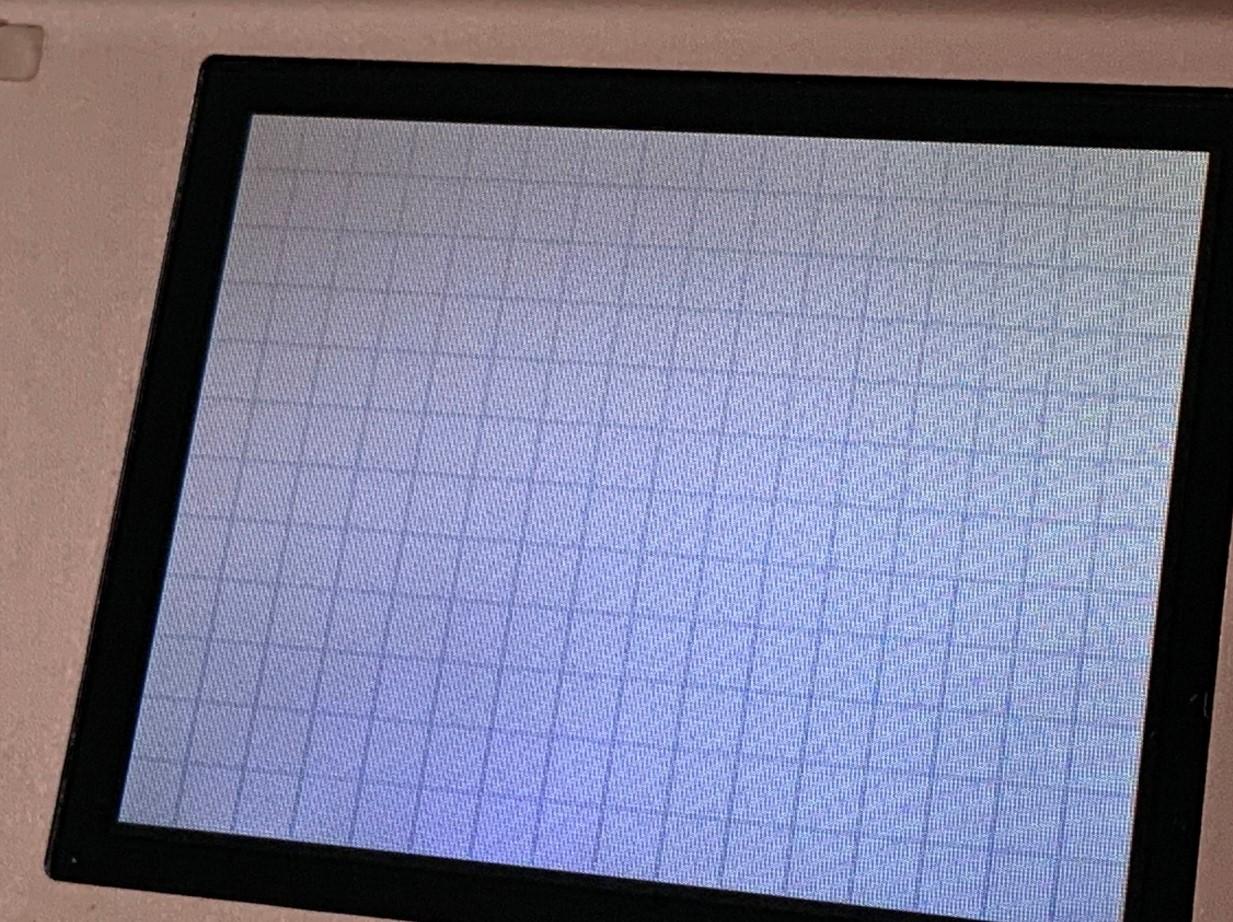 液晶画面を交換することで黒い点が消えたDS lite