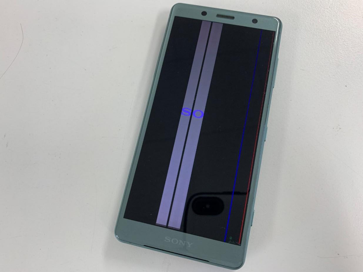 画面に線が入って操作できないXperia XZ2 Compact(SO-05K)