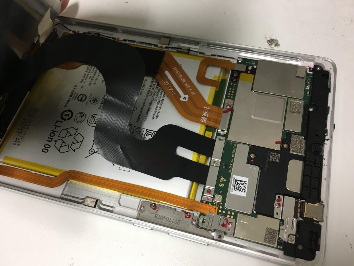 画面を剥がしたdtab Compact(d-01J)