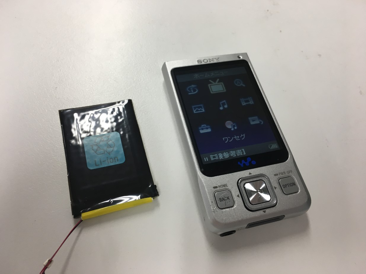 バッテリー交換で電源が入るように改善したウォークマン NW-A916