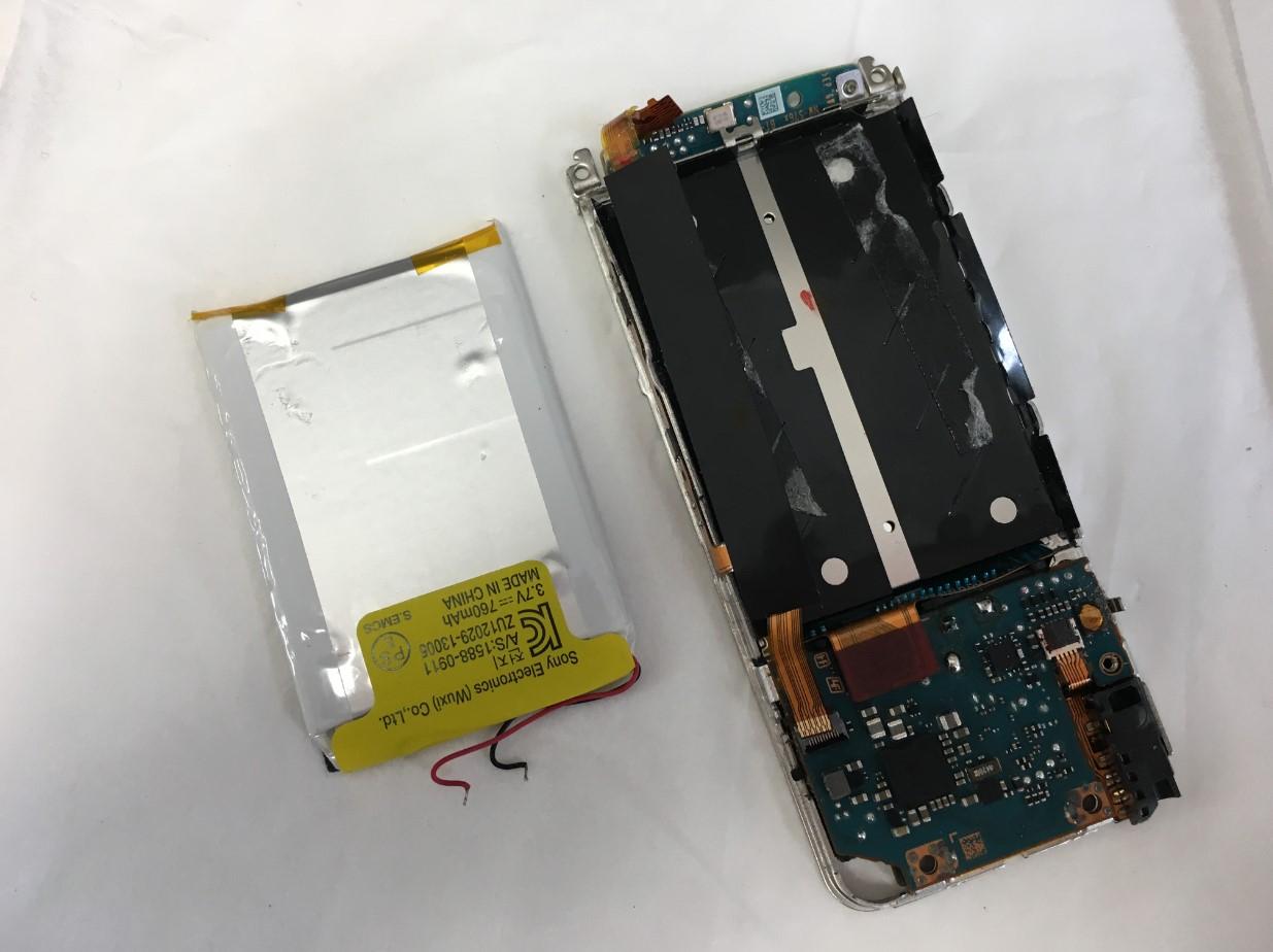 バッテリー交換しても電源が入らないNW-S15