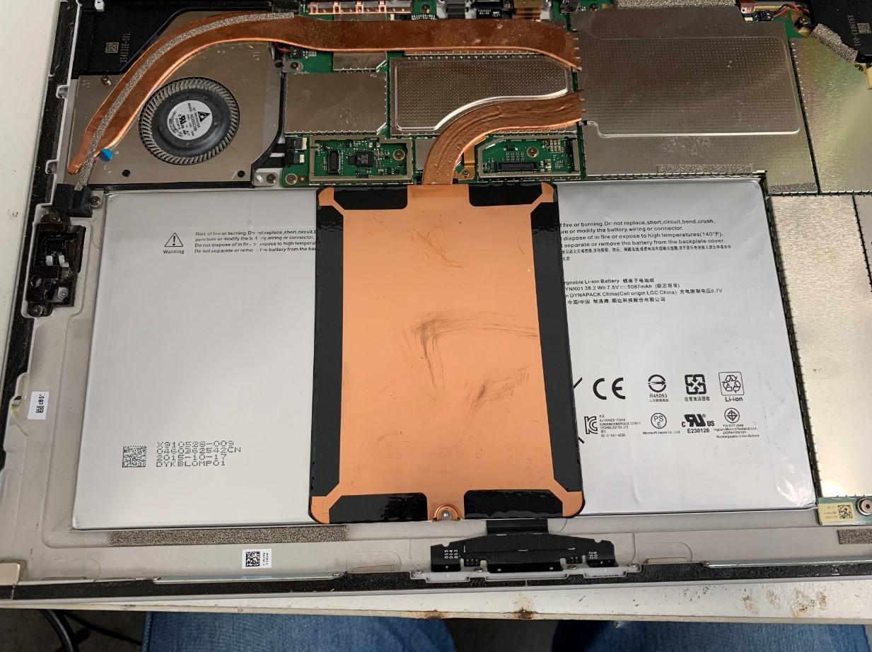 Surface Pro4の本体内部