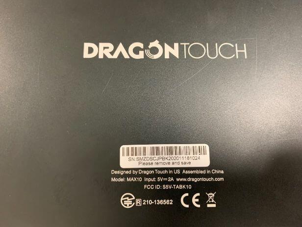 Amazonで大人気の中華タブレットDragon Touch Max10