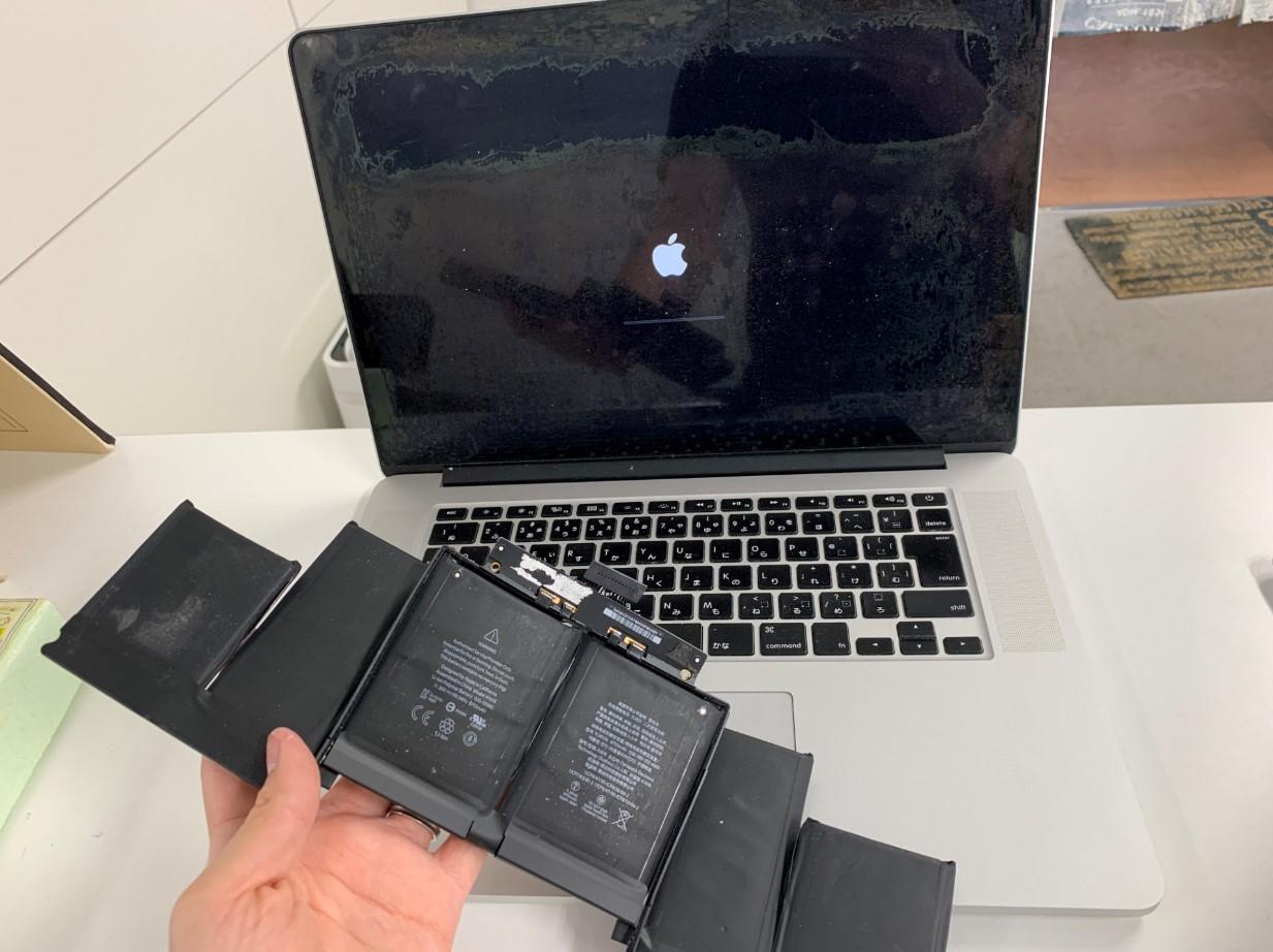 バッテリー新品交換修理後のMacBook Air(2014年/15インチ)