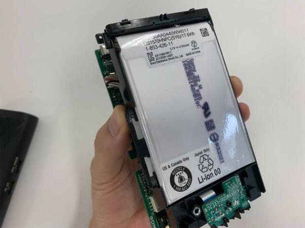 ヘッドホンアンプPHA-3のバッテリー