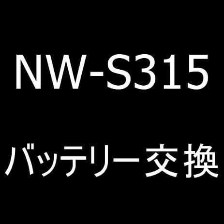 ウォークマン NW-S315のバッテリー交換