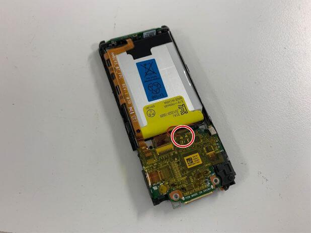NW-S315のバッテリーの接点
