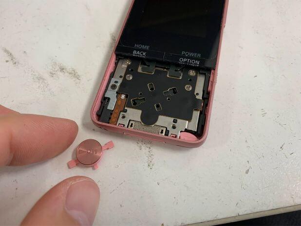 再生ボタンを取り出したNW-S315